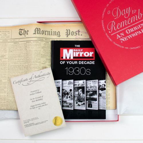 Personalised Original Newspaper and Decade Book